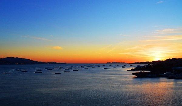 Ría de vigo puesta sol