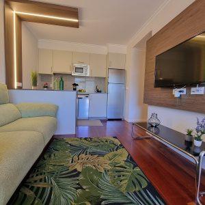 Apartamento Francón Sofa y Television
