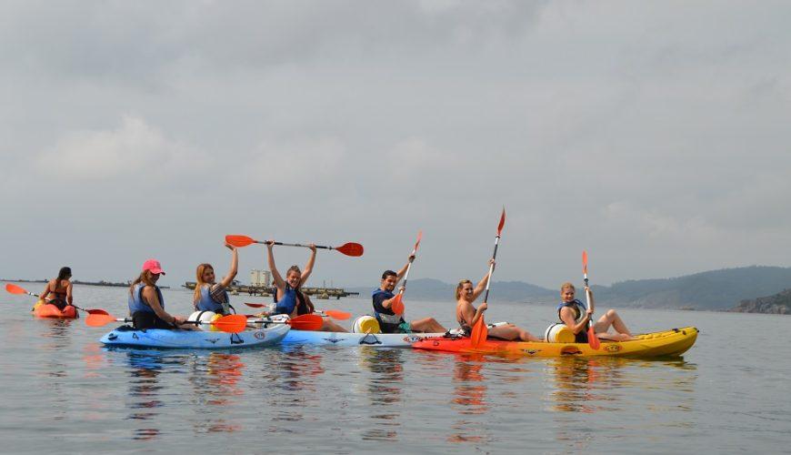 Kayak en la Ría de Aldán