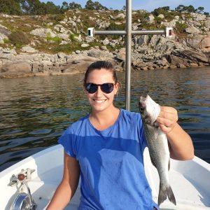 Pescar lubina en ria de aldan